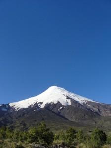 Vulcão Osorno visto do caminho de acesso