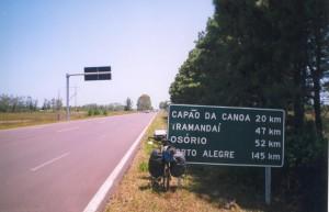 A caminho de Osório na Estrada do Mar (ou Interpraias)