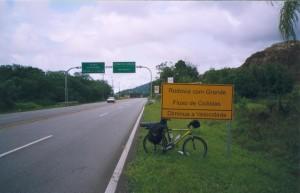 Na estrada para Matinhos no primeiro dia de viagem