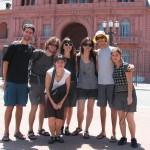 Na frente da Casa Rosada
