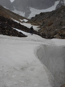 Caminhando na neve no Vale do Silêncio