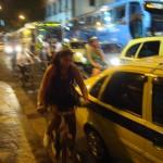 Uma das pessoas que participaram da Bicicletada pela primeira vez esse mês