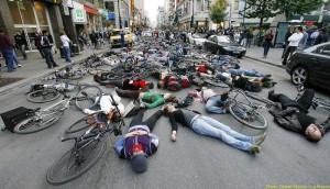 Die-in em Montreal em 2006