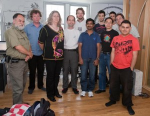 A maioria das pessoas que participou do encontro da comunidade do Tikiwiki em Londres