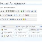 Parte da tela de administração do TinyMCE Advanced